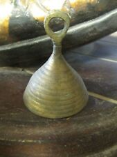 ANTIQUE BRASS SMALL  2 inch BELL Hand made OLD collectable