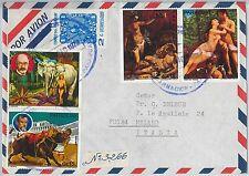 63117 - PARAGUAY - POSTAL HISTORY - COVER 1975  : ELEPHANTS Birds ART