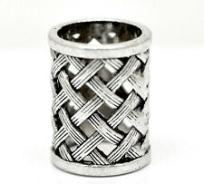 2pcs Silver Tone Bail Beads for Wrap Scarf (hole Size 17mm)