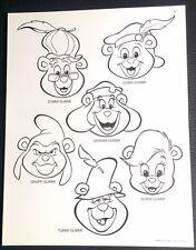 Disney's Adventure of the Gummi Bears Animation BW Model Sheet Cubbi Sunni A