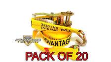 """Heavy Duty Ratchet Strap Tiedown 27'X2"""" Wire J Hook 10k Break Strength 20 Pack"""