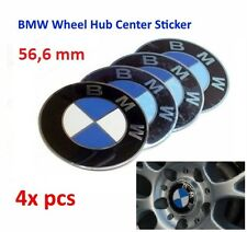 4x 56MM AUTO BMW RUOTA CENTER CAPS curva in METALLO ADESIVO Badge Logo