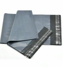 10 Plastic Envelopes Delivery Bags Size A20 (500 x 600mm) Grey Packaging Bags