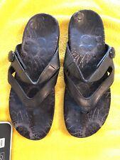 Flip Flops Sandals Womens Black 9 Orthaheel Technology Shoes Thongs 2 Straps