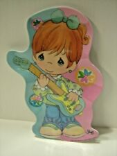 "Precious Moments Sam B 2006 Gibson girl playing guitar 11"" plastic plate"