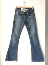 Abercrombie Juniors Denim Skinny Slim Boot Cut 5 Pocket Low Rise Size 14 #59
