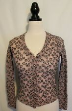 ALANNAH HILL ~ Eat me Up Cardi Mauve Blue Floral Stretch mesh Lace Blouse Top 10