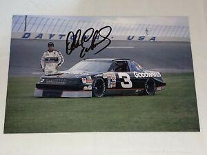REAL Dale Earnhardt Sr NASCAR 7X CHAMP HOFer 1990 autographed 5x7 HERO photo #3
