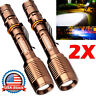 Tactical 350000LM Rechargeable Led Flashlight  Torch Lamp For 186*50 Battery