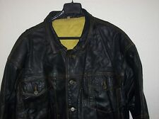 GAMASDER MENS LEATHER JACKET, SIZE XL, CHEST 46,PIT TO PIT 24,SLEEVE 21,USED