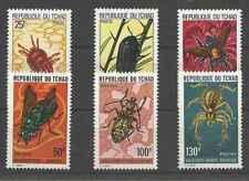 Timbres Insectes Tchad 291/6 ** lot 27403