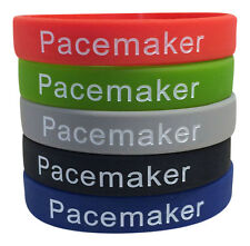 Pacemaker Medical Alert Bracelet Heart Cardiac ID Silicone Band (Set of 5)