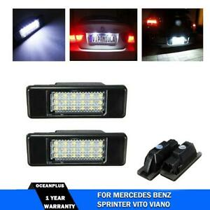 2x REAR NUMBER LICENSE PLATE LIGHT LAMP LED FOR MERCEDES SPRINTER VITO VIANO