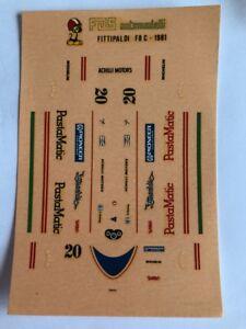 1/43 F1 DECALS CAR FITTIPALDI F8 C 1981 GRAND PRINX GP DECAL  F1 Car Collection