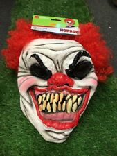 Smiffys Scary Freaky IT Horror Halloween Clown Full Head Mask with Hair