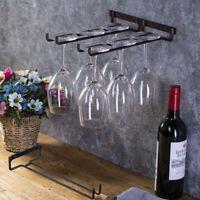 Edelstahl Weinglashalter Hanging Rack Lagerung für Cabinet Bar Decor