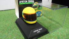 HELMET CASQUE PILOTE AYRTON SENNA 1981 F1 formule 1 au 1/8 MINICHAMPS 540381115