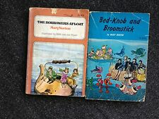 2 Mary Norton Books The Borrowers Afloat & Bed-Knob and Broomstick Paperback