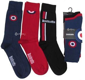 3 Pairs Lambretta Target Designer Cotton Rich Socks Shoe Size 6-11