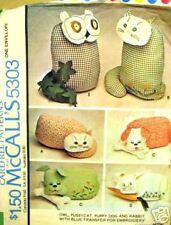 McCall's 5303 1976 Owl, Pussycat, Dog, Bunny Pattern