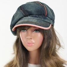 Jean 8 Panels Denim Applejack Vintage Hat Newsboy Unisex Ivy Gatsby Driving Cap