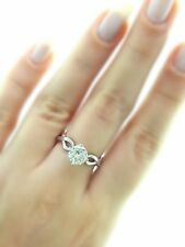 Harem Women Promise Wedding Engagement Jewelry Silver Rings For Her Sz 6
