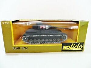SOLIDO MILITAIRES 237 'CHAR PZIV WWII GERMAN HEAVY TANK' MIB/BOXED. 1:50.