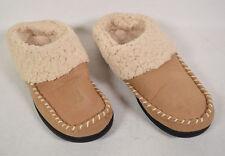 Dearfoams Womens Beige Fabric Berber Cuff Clog M 7 -8 US
