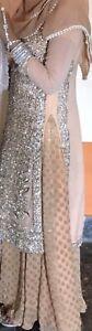 Pakistani/Indian/Bridal Bridesmaid Dress Heavy Embroider Wedding Party Lehenga
