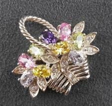 Sterling Flower Basket Pendant