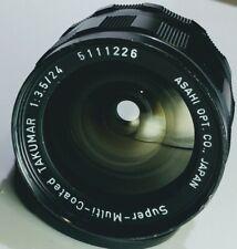 EXCELLENT PENTAX SMC Takumar M42 Mount MF Lens 24mm f/3.5 From Japan