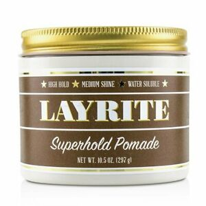 Layrite Superhold Pomade (High Hold, Medium Shine, Water Soluble) 297g
