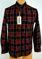 Outdoor Life Flannel Shirt Red Black Plaid Small Mens Button Long sleeve NEW NWT