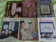 Lot CROSS STITCH Booklet Pattern Victorian Guest Bellpull House Rose Towel Chart