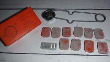 Vtg Box of 10 Metal Tins RENEWALS NO. 200IX SHURLITE GAS TORCH LIGHTER Original