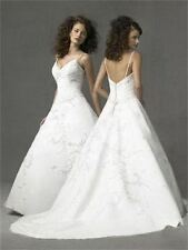 ORG $999 Forever Yours 46228 White 10 Formal Wedding Dress Beaded Bridal Gown