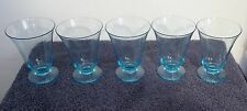 5 Piece Light Blue Footed Glasses