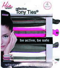Mia Sport, Reflective Tony Ties, Hair Ties, Ponytail Holder, Rubber Bands