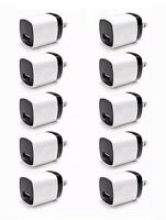 10x USB Wall Charger Power Adapter AC Home US Plug FOR iPhone 6 7 8 X Samsung LG