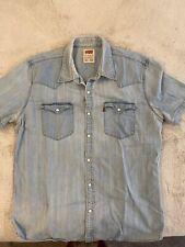 Levis mens light blue denin shirt XL