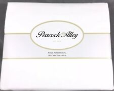 3pc Peacock Alley King Comforter Duvet Bed Cover Set 300 TC White 100% Cotton