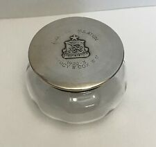 More details for rare solid silver topped masonic pot.lodge of emulation 1163. to  w.m. 1922-23.