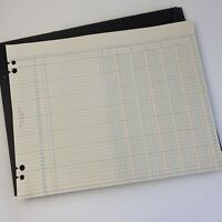 """Vintage 25 Blank Ledger Book Blank Pages Prop Office Supplies 11x14"""" McMillan"""