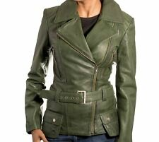 Trench Ladies Coat Jacket Overcoat Winter Long Size Womens Biker Usa Warm Green