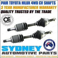 LH & RH CV Joint Drive Shafts Toyota Hilux 4x4 KUN25 KUN26R TGN26 GGN25 SR SR5