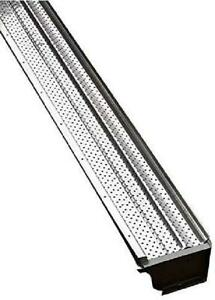 """Roof Gutter Guard Cover Protector Aluminum Heavy Duty 5"""" No Rust Gutter Covers"""