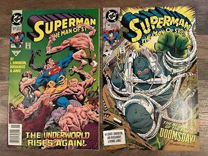 Superman Man of Steel 17 18 1st Doomday Newsstand Variant DC Comics Simonson