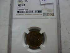 1863 Indian Head Cent, NGC MS-62...015
