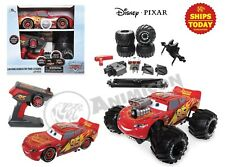 "Disney Store LIGHTNING MCQUEEN BUILD TO RACE REMOTE CONTROL CARS 10"" PIXAR 2020"