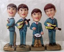 """THE BEATLES. HEAD NODDERS. BOBBLEHEADS. 1960'S. 4"""" CAKE TOPPERS."""